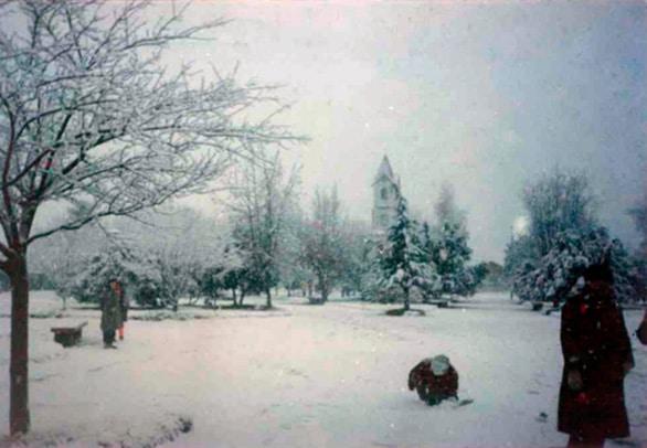 Plaza de Reumén nevada 1992